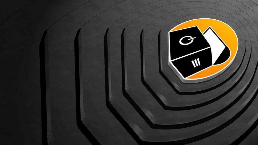 Ein Desktop-Hintergrundbild, das zentral das Logo des Vereins zeigt, und stark an das Hintergrundbild von Linux Mint 19 erinnert.