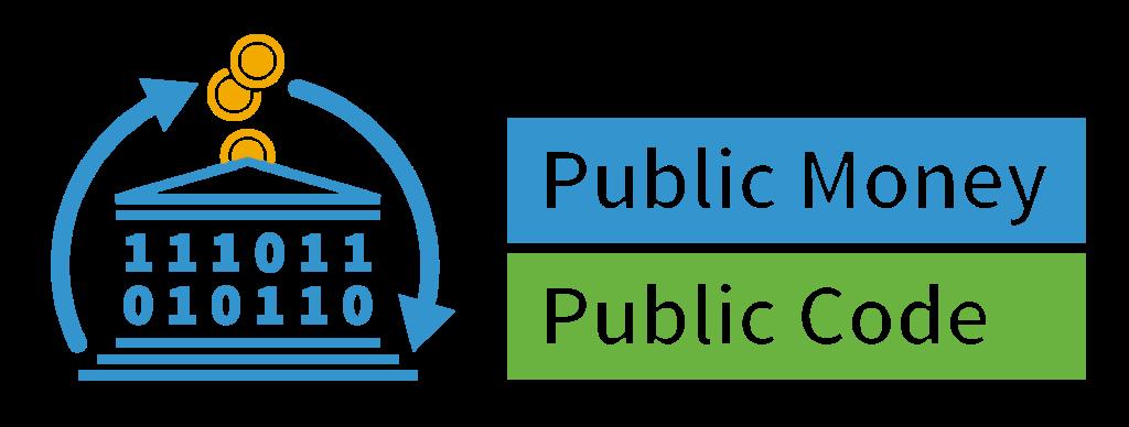 "Logo der Kampagne ""Public Money? Public Code!"""