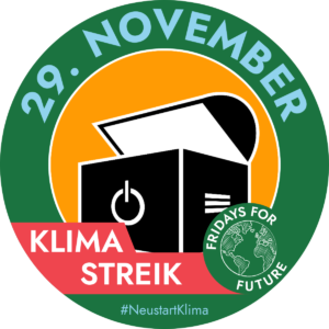 "Verschmelzung unseres ""Computertruhe""-Logos mit dem ""Fridays for Future""-Logo."