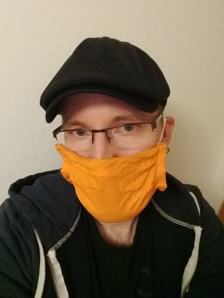 Marco Rosenthal trägt zum ersten Mal seine eigene Maske.