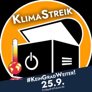 """Verschmelzung unseres """"Computertruhe""""-Logos mit dem #KeinGradWeiter-Logo."""