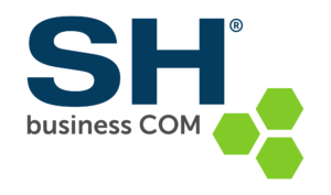 "Logo der ""SH business COM GmbH"""