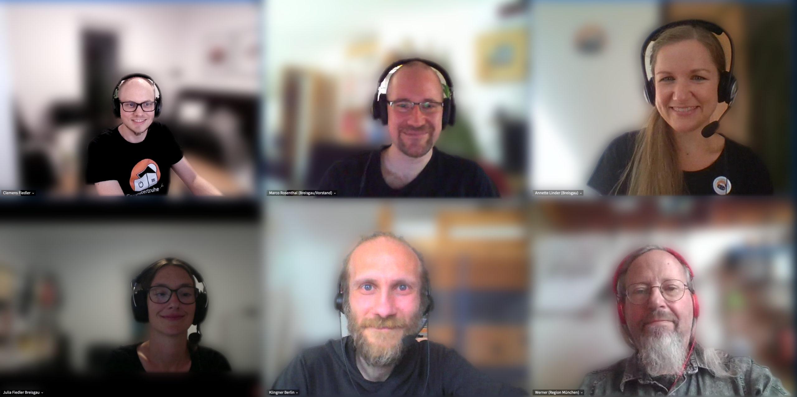 "Foto aller Vorstandsmitglieder des Vereins ""Computertruhe e. V.""."